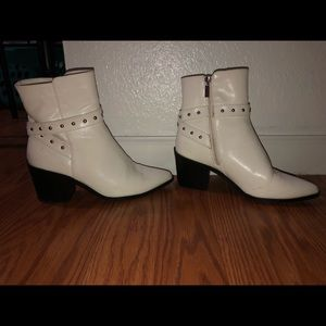 White studded boots